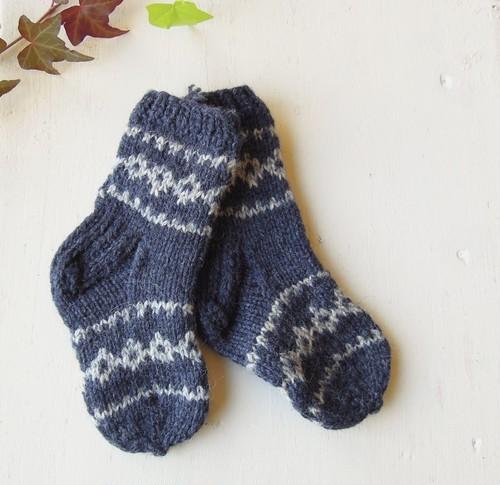 エストニアKIDS 手編み靴下