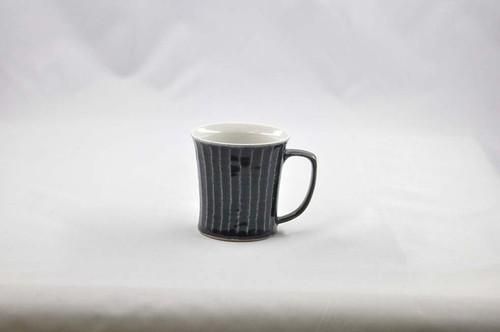 瑠璃釉しのぎ マグカップ