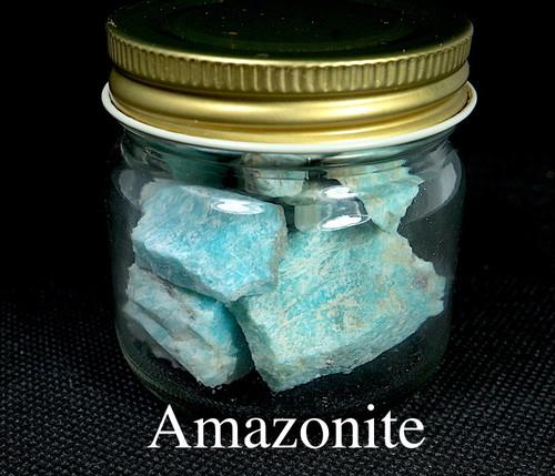 お得!自主採掘!アマゾナイト カリフォルニア産 瓶づめ  89,4g AZ0059 天河石(てんがせき) 鉱物 天然石