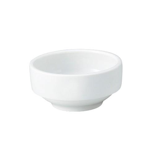 【1711-0000】強化磁器 9cm すくいやすい食器 白無地