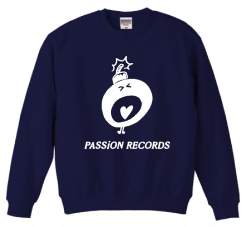 PASSiON RECORDS LOGO sweat navy