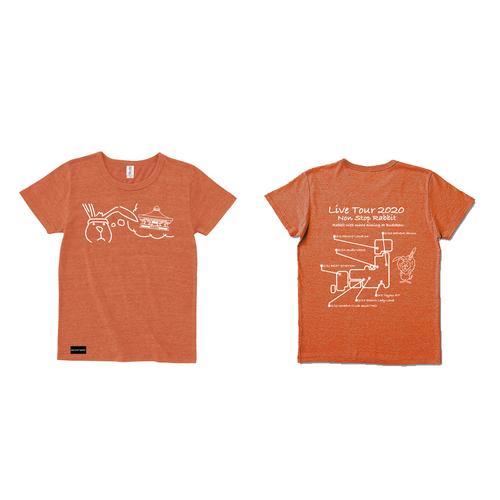 たてがみ忍の日大問題Tシャツ(橙x白)