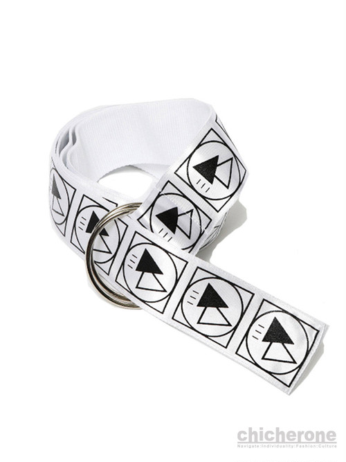 【SILLENT FROM ME】 CRYPTIC -Ring Belt- WHITE