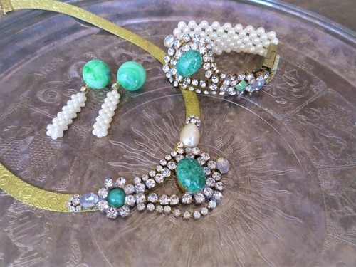vintage necklace bijou <NC-MSgrprl>