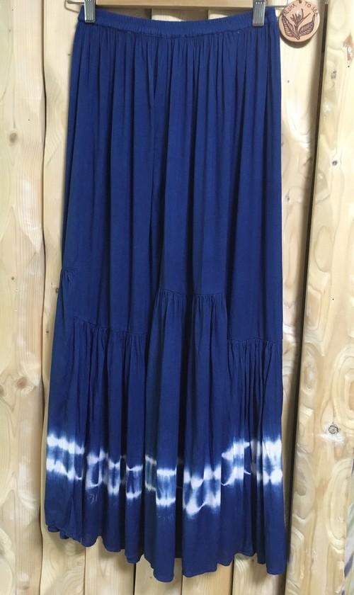 藍染 スカート
