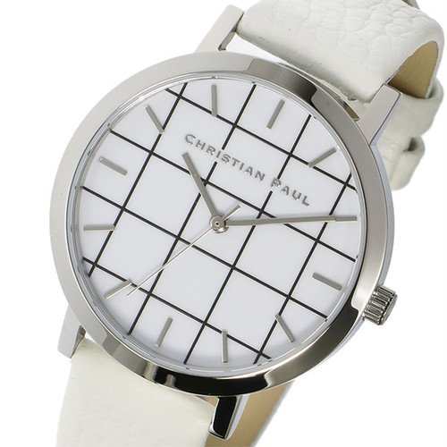 クリスチャンポール CHRISTIAN PAUL グリッド HAYMAN レディース 腕時計 GRL-03 シルバー/ホワイト ホワイト