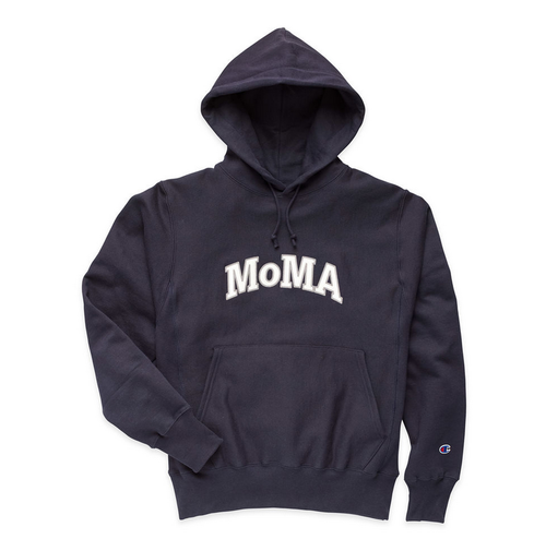 MoMA x Champion Sweat Hoodie Parka Navy