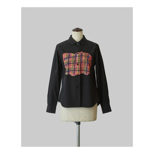 Standard Shirt Hand Drawn Tartan Black