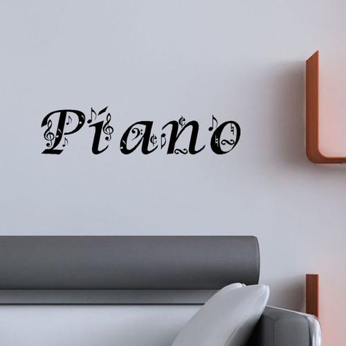 PIANOの文字ステッカー インテリアステッカー ウォールステッカー おすすめ