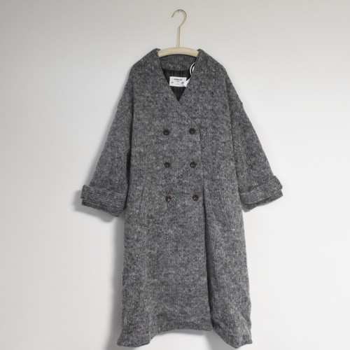 KNIT TRENCH COAT  GRAY