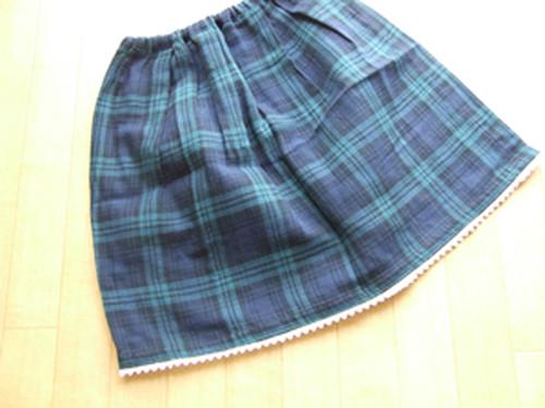 女児ブラックウォッチスカート