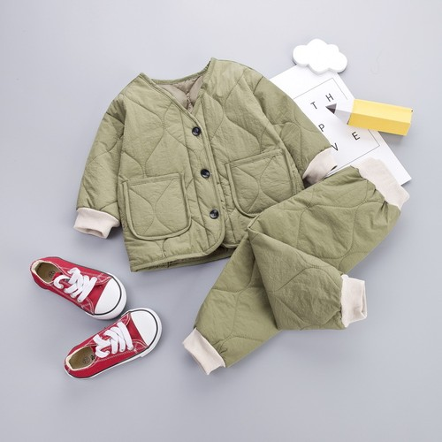 【注文商品】【ベビー / キッズ】Toddler Cotton Outfit Tops / Pants Set【Green】