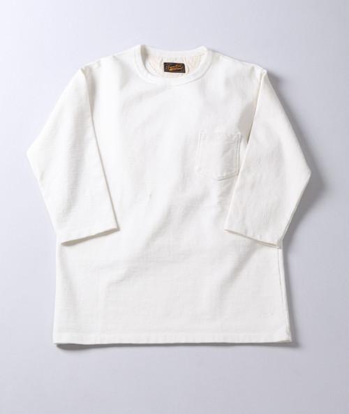 JAPAN BLUE JEANS (ジャパンブルージーンズ) 16.5ozスウェット 7分袖Tシャツ 18ゲージ スーパーハードインレイ White (ホワイト) J45400J02