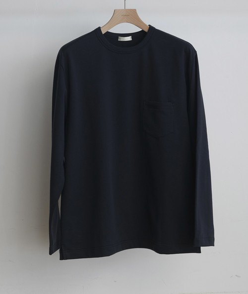 niuhans / Smooth Cotton L/S Sweat Tee[NAVY]