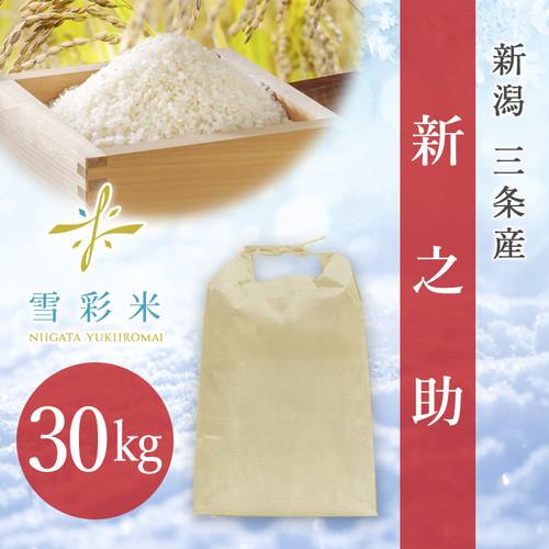 【雪彩米】三条産 令和2年産 新之助 30kg
