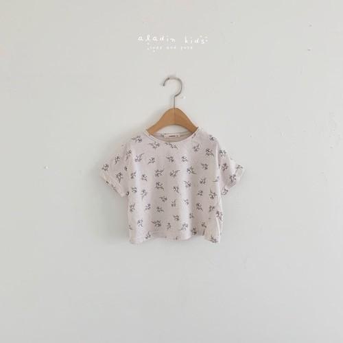 【予約販売】flower T-shirt〈aladin kids〉