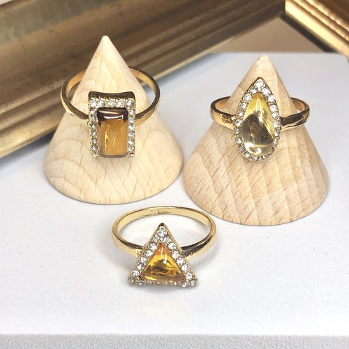Yellow Gold shape rings set / モチーフリングセット