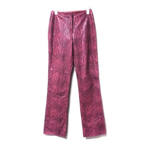 Snakeskin pants pink