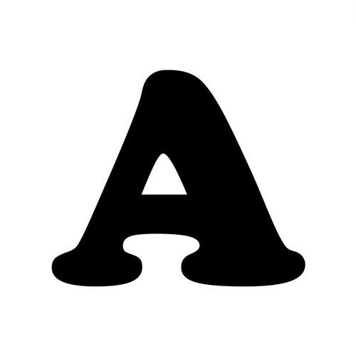 アルファベットA~Z(黒、Mサイズ、H70mm)