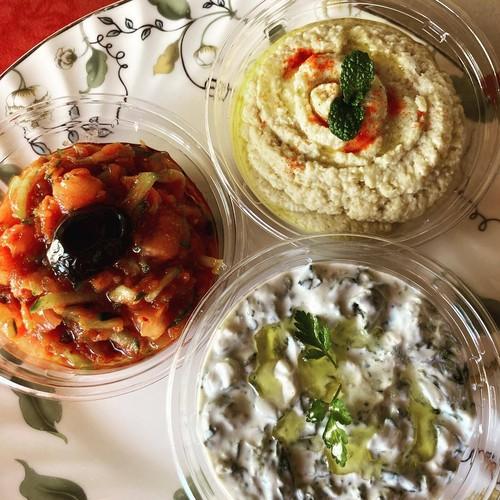トルコ料理★メゼの盛り合わせとパンのセット★おうちで楽しむトルコ料理