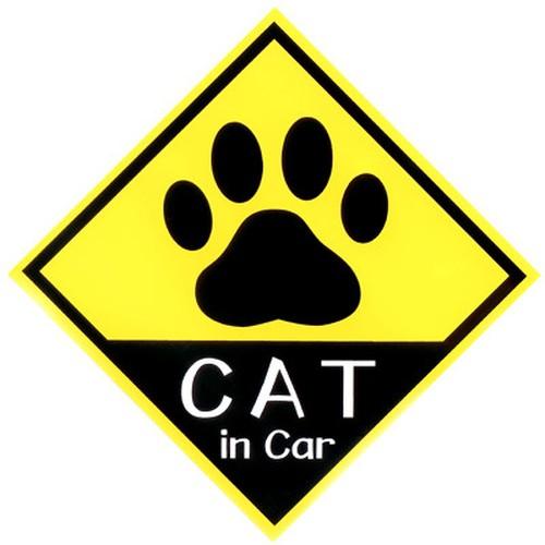 CAT in Car ステッカー 足跡