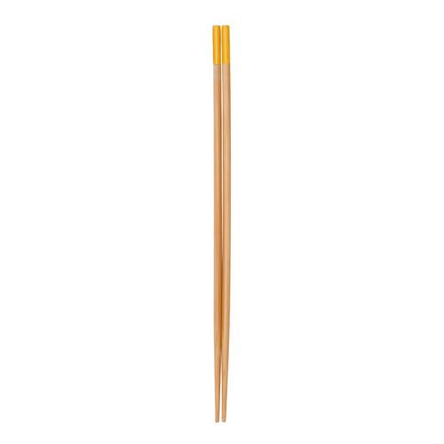すす竹カラー菜箸(イエロー) 【47-221】