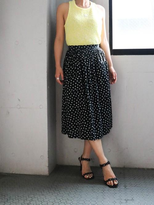 70's dot flare skirt