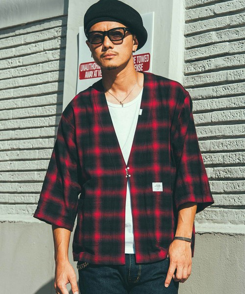 CRIMIE / CR01-02L1-SH03 / OMBRE CHECK JINBEI SHIRT