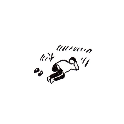 土手でゴロン Lying down on the grass