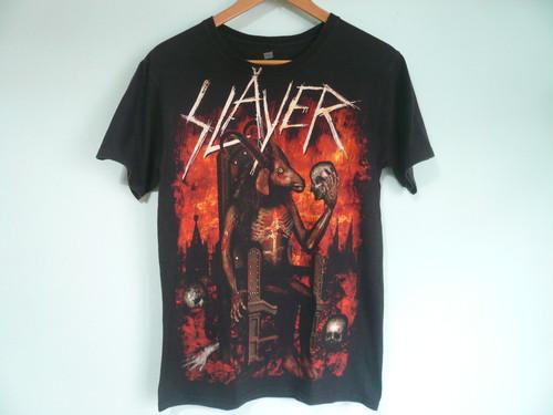 SLAYER スレイヤー 前後 両面 プリント Tシャツ / ヘビーメタル HEAVY METAL ロック ROCK バンド BAND スラッシュ 80s 90s OLD