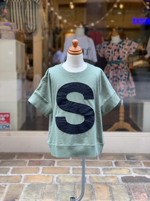 KIDS:6°vocaLe【セスタヴォカーレ】キャピタルレターTシャツ(ミリタリー/90〜120cm)