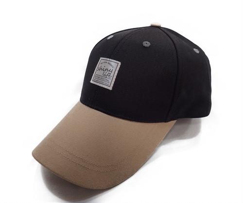 バイカラーワッペンCAP[H-044 BLACK]