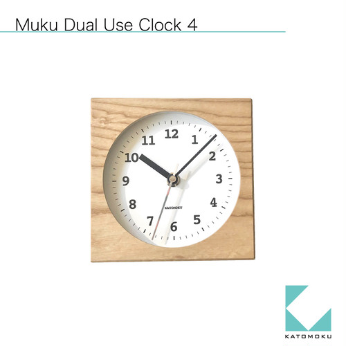 KATOMOKU Dual use clock 4 km-95NRC ナチュラル 電波時計