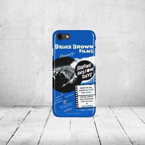 iPhone7 & 8ケース・ブルースブラウンフィルム・Surfing Hollow Days