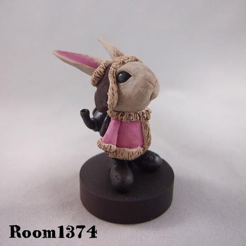 【雪の街】雪の街のウサギ(ピンク)