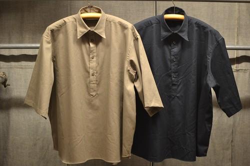 INDIVIDUALIZED SHIRTS ミリタリーツイル ワイドポップオーバーシャツ