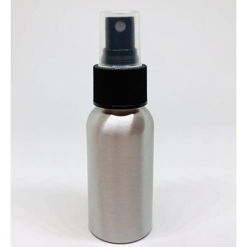 【スプレー容器】30ml アルミニウム 銀色 黒ノズル ポーチサイズ アロマ 遮光 軽量 強度 お掃除 除菌 消臭 詰め換え 詰替 細かいミスト