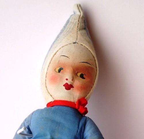 クラウン ピエロ ドール 布人形 クロスドール UK ぬいぐるみ ハンドメイド アンティーク