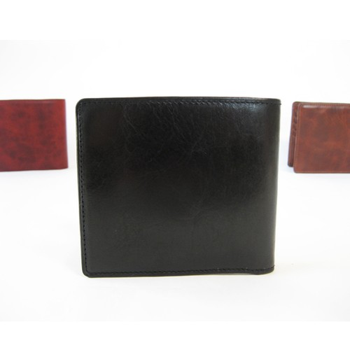 """BASIC""アートウォレット<BLACK> ☆ギフト包装・名入れ刻印無料☆二つ折り財布"