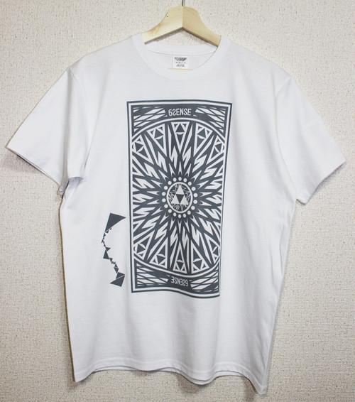 【6SENSE】 T-Shirts -Triangle-(WHITE , GRAY)