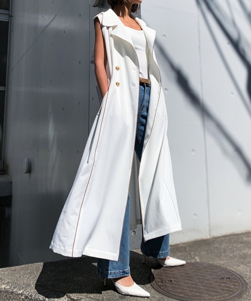 piping trench coat