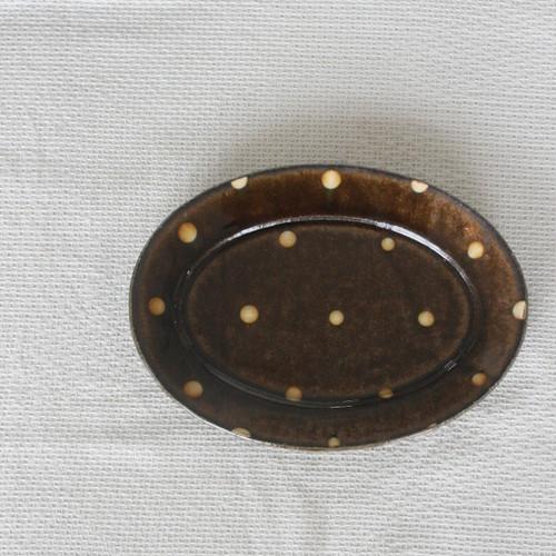中川紀夫 スリップウェア楕円リム皿