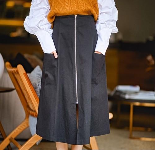 ジップデザインスカート(b_2)