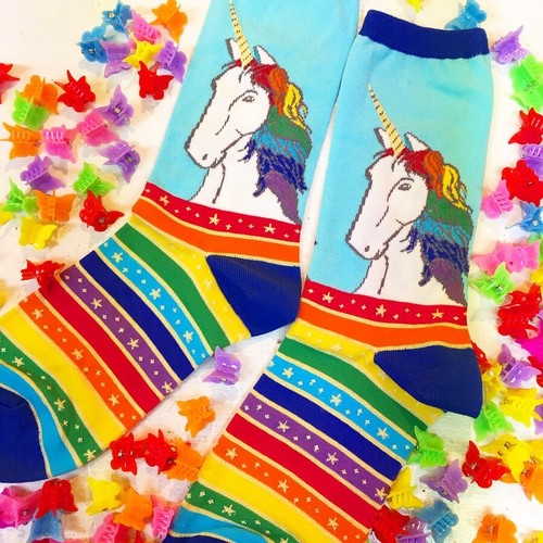 Rainbow Hair don't care (ユニコーン) -SockSmith(ソックスミス)