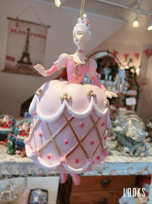 バレリーナ Pink Dress Lady Ornament