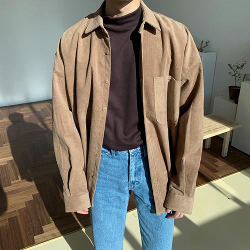 ワンポケットコーデュロイシャツ BL5116