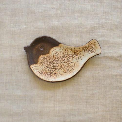 小鳥の豆皿(チョコA)