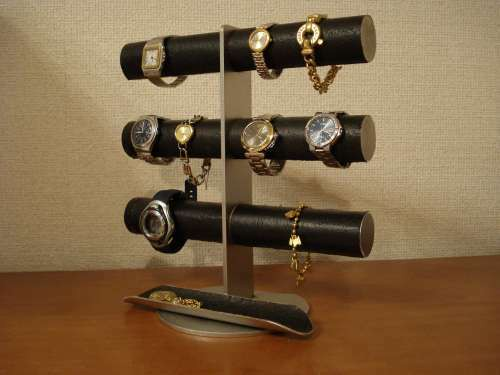 Christmas 彼氏、お父さんにプレゼント 格好いい12本掛けブラック腕時計スタンド 12522