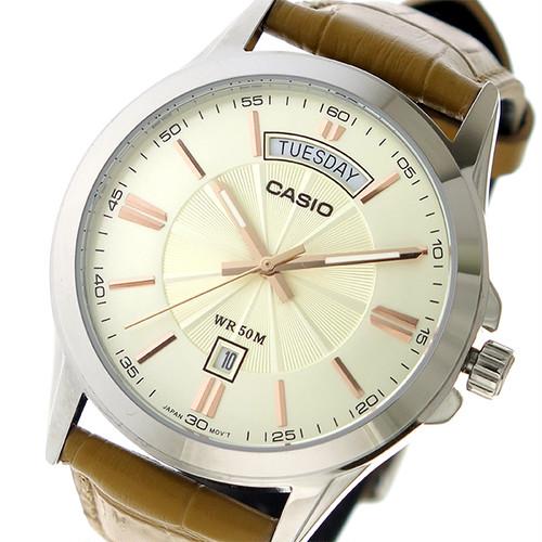 カシオ CASIO クオーツ ユニセックス 腕時計 MTP-1381L-9A アイボリー アイボリー