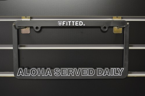 FITTED Licence plate frames